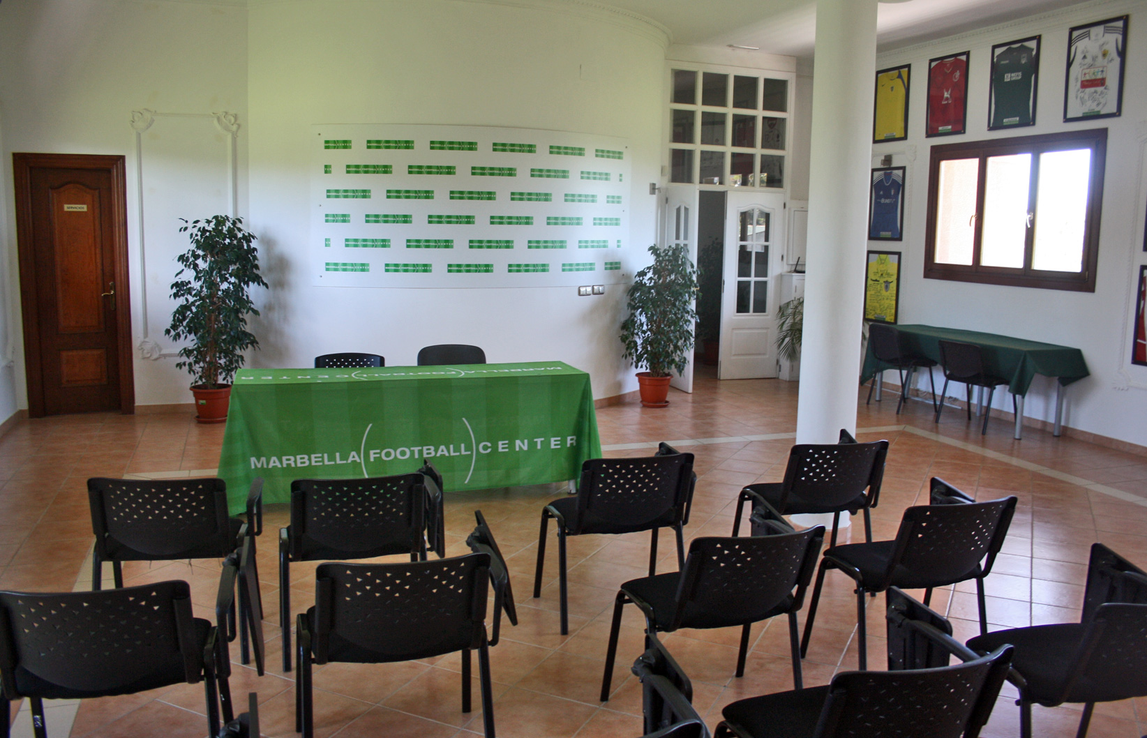 MARBELLA FOOTBALL CENTER PRESS ROOM WITH FREE WIFI